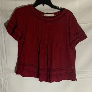 Red Abercrombie and Fitch blouse